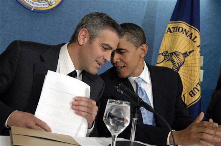 歐巴馬尚未就任美國總統前,就與喬治克隆尼是好友。