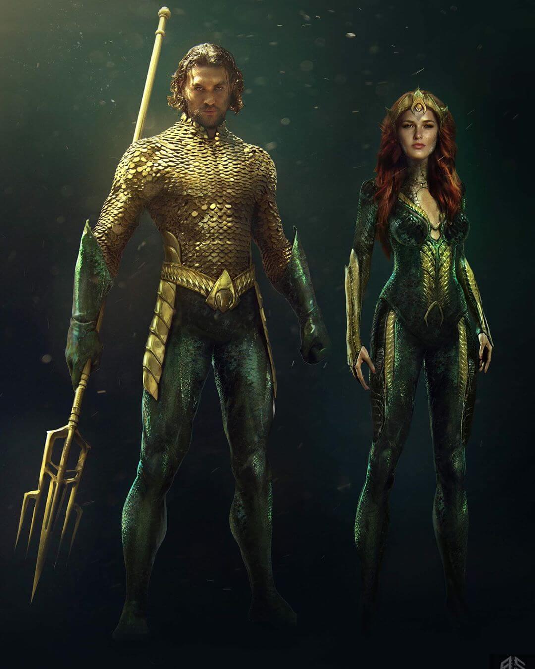 水行俠與梅拉公主。