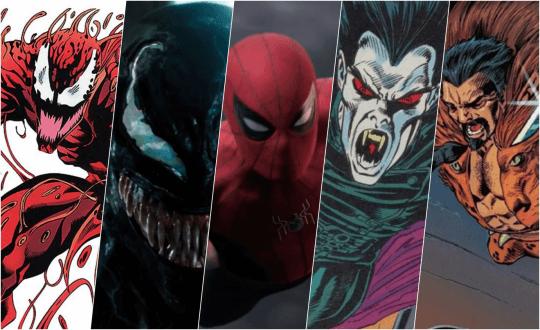 索尼影業的蜘蛛人系列反派電影:猛毒、屠殺、吸血鬼魔比斯......等角色。