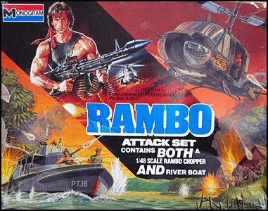 《第一滴血續集》上映之後推出的玩具及遊戲等等,也讓作品及「藍波」的硬漢形象更快速地散佈全球。