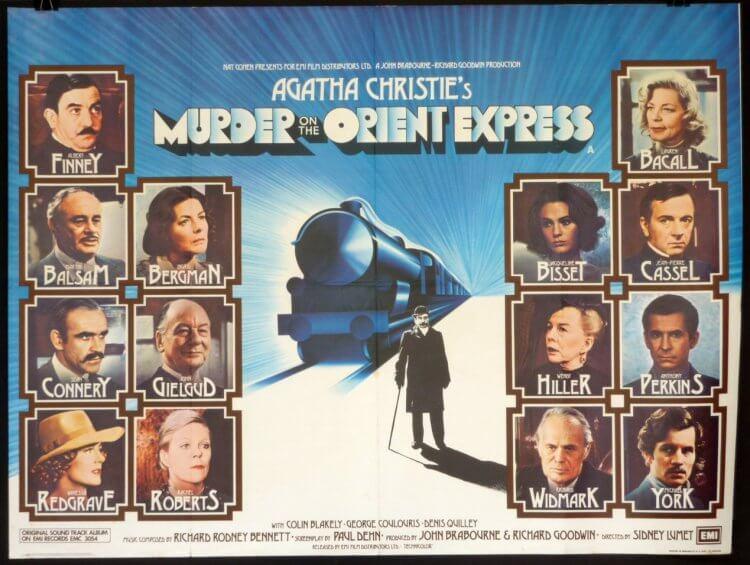 1974 年薛尼盧梅執導的《東方快車謀殺案》囊括了許多巨星。