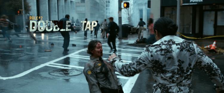 《屍樂園:髒比雙拼》英文片名「Zombieland: Double Tap」取自首集介紹過的生存法則第二條