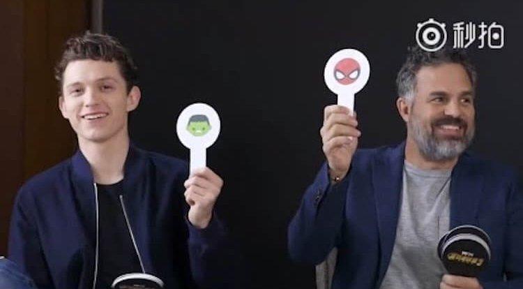 馬克盧法洛 (Mark Ruffalo) 與湯姆霍蘭德 (Tom Holland)