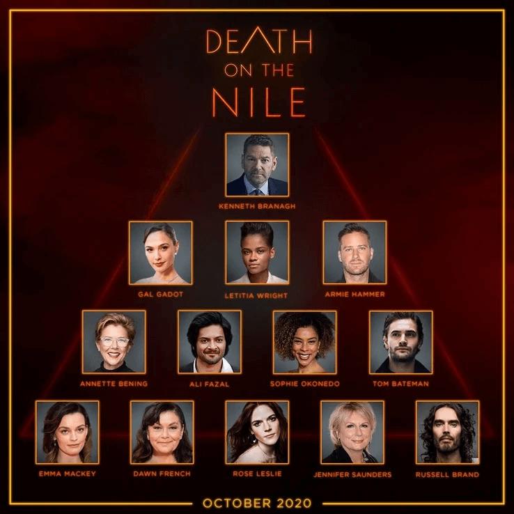 《尼羅河謀殺案》(Death on the Nile) 卡司陣容完整公開
