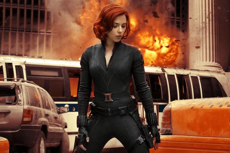 2012 年《復仇者聯盟》中的黑寡婦。
