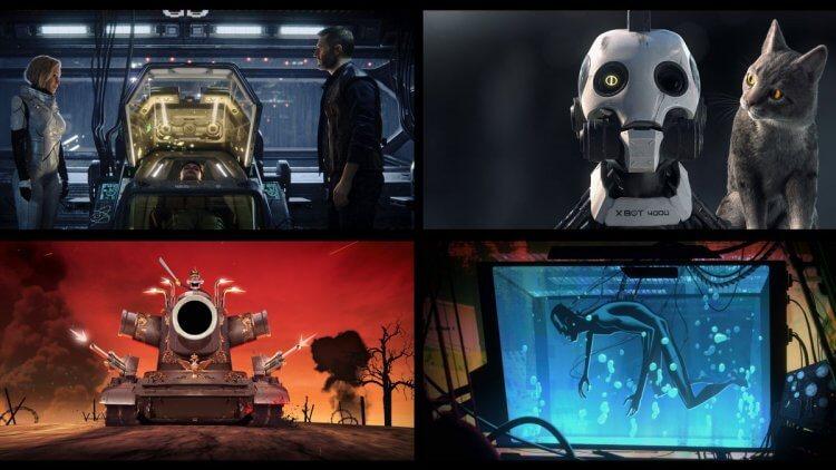 由大衛芬奇、提姆米勒等人製作的 Netflix 動畫影集《愛 x 死 x 機器人》也被奉為神作。