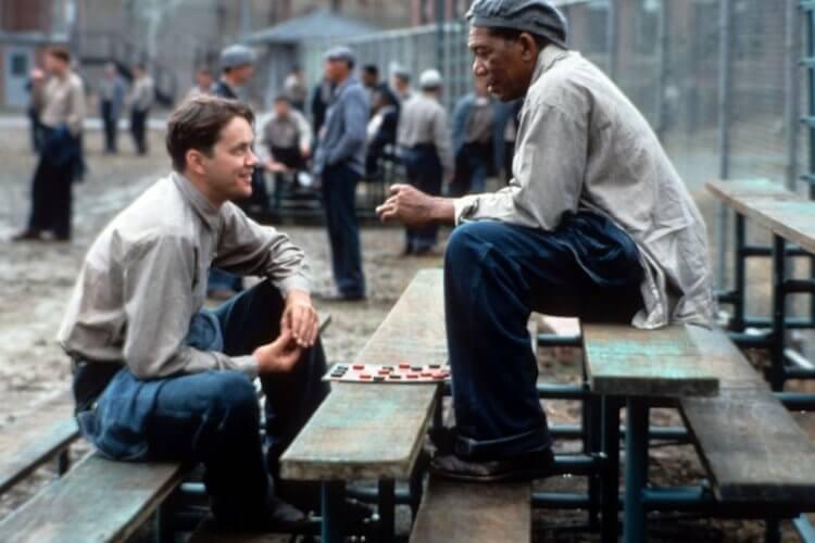 年紀相差 20 餘歲的摩根弗里曼、提姆羅賓斯在拍攝《刺激 1995》的時候成為忘年之交。