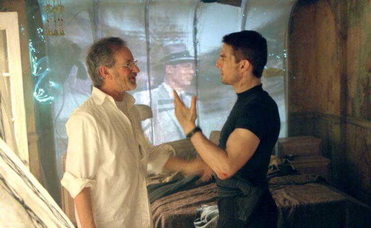 史蒂芬史匹柏 (Steven Spielberg) 與湯姆克魯斯。