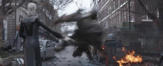《復仇者聯盟3:無限之戰》(Avengers: Infinity War) 的烏木喉以及黑曜獵手