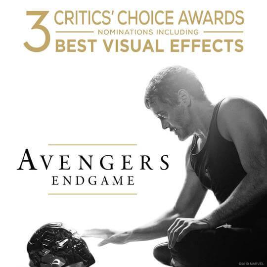 去年超越《阿凡達》成為影史最高票房電影的《復仇者聯盟 4:終局之戰》在視覺效果等方面也獲得肯定。