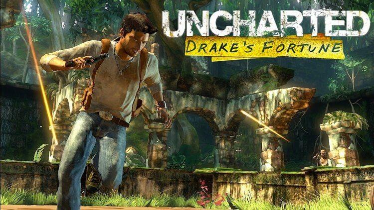 2007 年頑皮狗開發、索尼發行的《秘境探險:黃金城秘寶》遊戲。