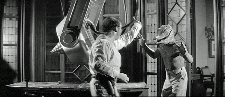 1959 年以「一票看兩片」形式和《變蠅人重生》一起上映的《鱷魚人》。