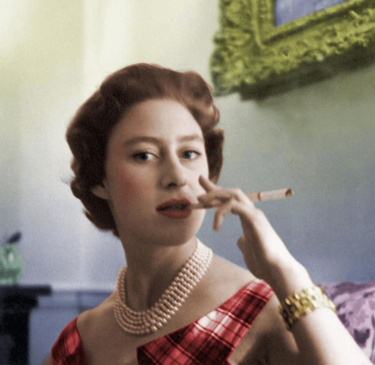 菸不離手活出自我的英國王室瑪格麗特公主。