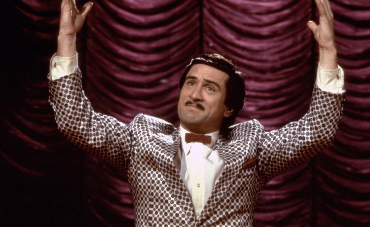 馬丁史柯西斯執導的《喜劇之王》裡的勞勃狄尼洛。