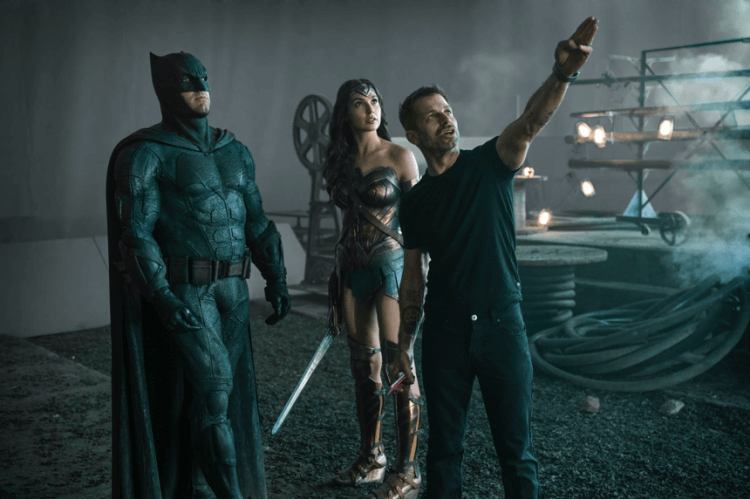 《正義聯盟》導演 查克瑞史奈德(Zachary synder)、蝙蝠俠 班艾佛列克、神力女超人 蓋爾加朵