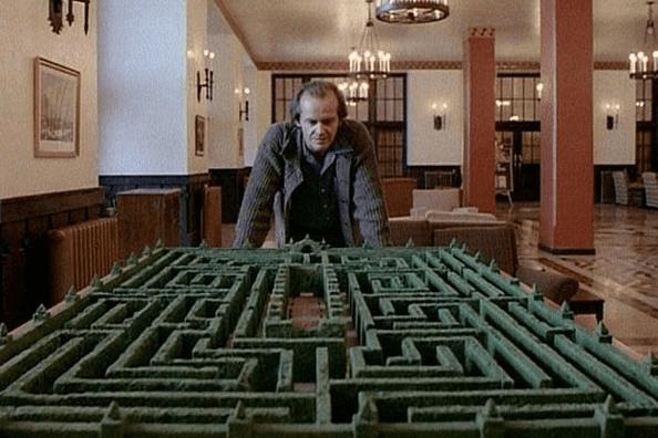 電影《鬼店》在全景飯店裡的樹籬迷宮模型。