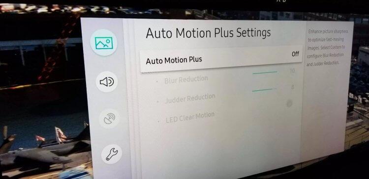 三星電視「Auto Motion Plus」功能