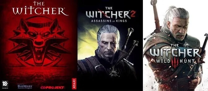 《獵魔士》(The Witcher) 的同名電玩系列《巫師》