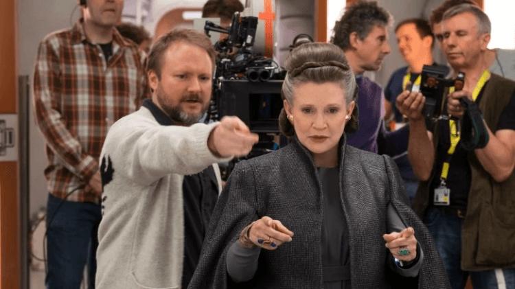 導演雷恩強生執導《STAR WARS:最後的絕地武士》的片場照。