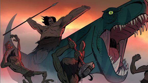 《原始戰記》是由製作《尖叫旅社》的俄國動畫導演格恩迪塔塔科夫斯基所拍攝,描述史前時期一名強大的原始人以及面臨種族滅絕的一頭母暴龍如何在殘酷的環境中生存的故事。