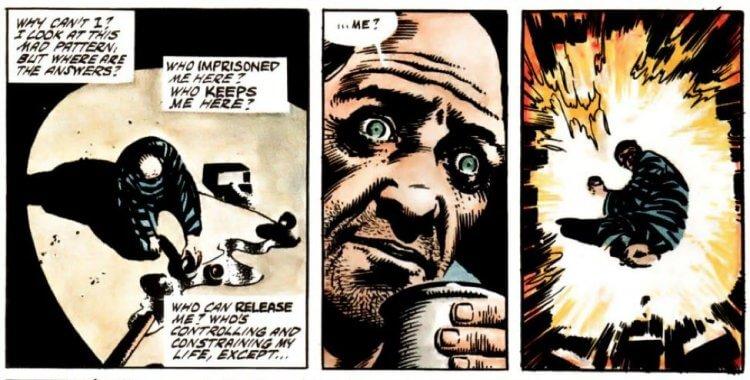 亞倫摩爾創作的故事內含他看待社會的觀點,像《V 怪客》中反應了他期望看到人類的全面覺察。