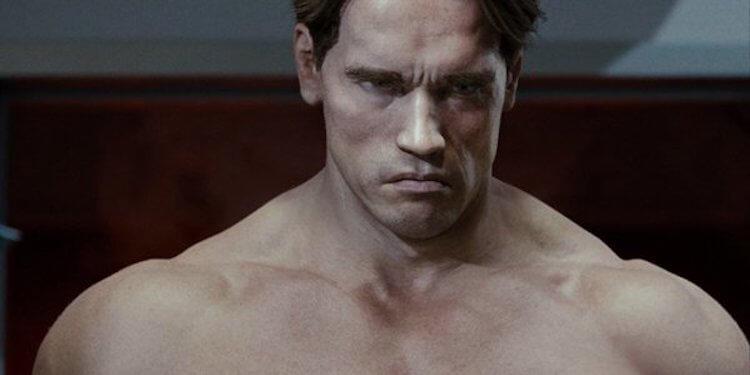 《魔鬼終結者:未來救贖》中用電腦特效製作出的年輕版阿諾史瓦辛格。