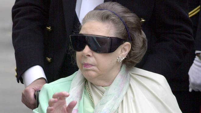瑪格麗特公主晚年的樣子。