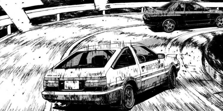 《頭文字 D》漫畫。