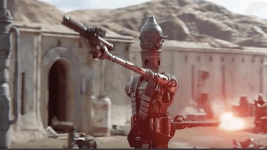 《星際大戰》首部真人外傳影集《曼達洛人》劇照。