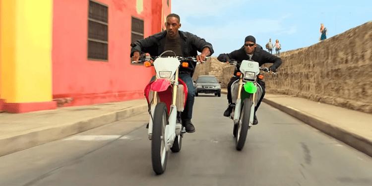 威爾史密斯主演的《雙子殺手》精彩的摩托車追逐戲碼。