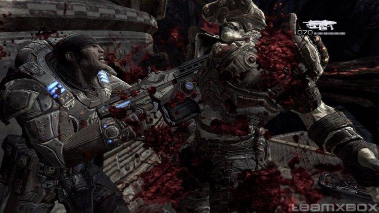 《戰爭機器》(Gears of War) 可以滿足鮮血控