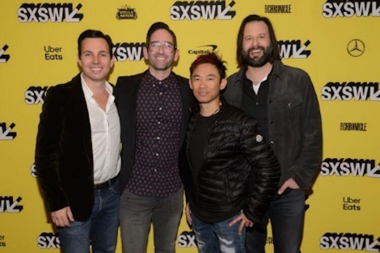 格里多伯曼、邁克爾查韋斯等溫子仁與他培育出來的電影團隊。