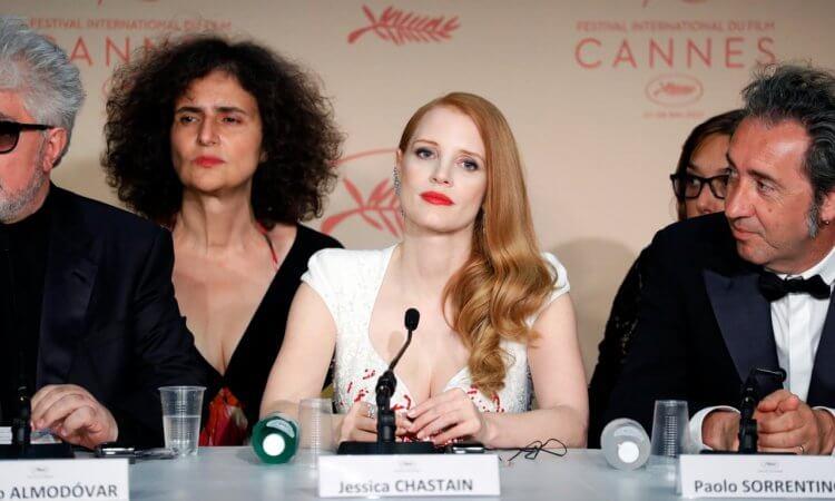 潔西卡雀絲坦 (Jessica Chastain) 在坎城閉幕記者會上期盼電影呈現更多不同的女性樣貌。