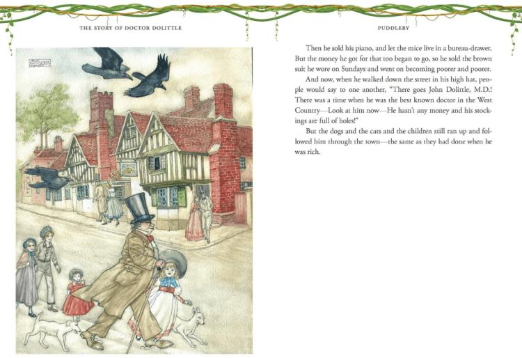 電影《杜立德》原著童書《杜立德醫生》中所描述的杜立德,因為太喜歡動物到很少與人類打交道而貧窮。