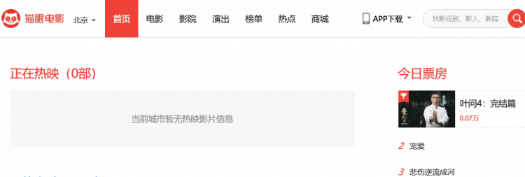 當全球因中國武漢發生的致死肺炎消息給震驚後,2020 年 1 月 24 日起貓眼電影平台便看不到中國約 7 萬家電影院的票房數字。