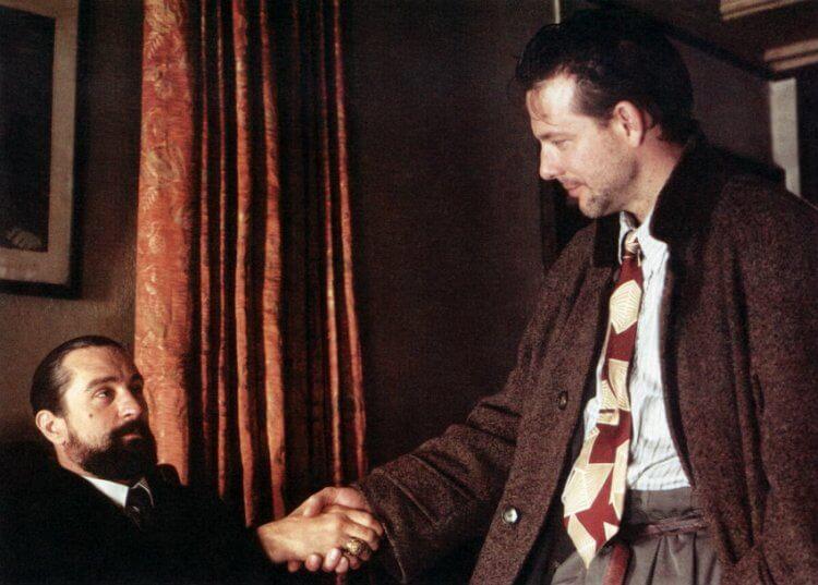 1987 年電影《天使心》中的勞勃狄尼洛與米基洛克難得同台,也是最後一次。