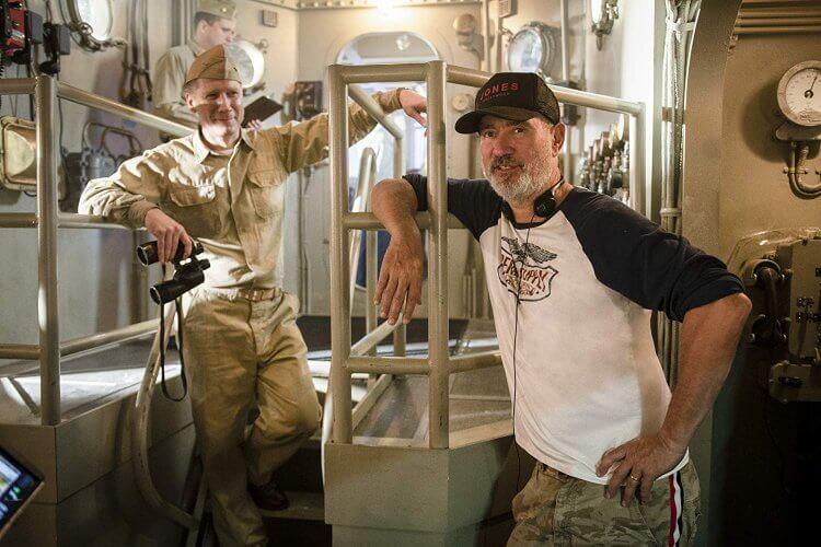 導演羅蘭艾默瑞奇於電影《中途港大戰》拍攝現場