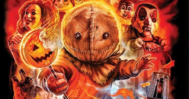 《靈異萬聖節》為《哥吉拉 II:怪獸之王》導演麥可道格堤執導,由四個萬聖節恐怖故事所組成,並以一名穿著橙色連身睡衣、頭包著麻布的詭異小孩貫穿其中。