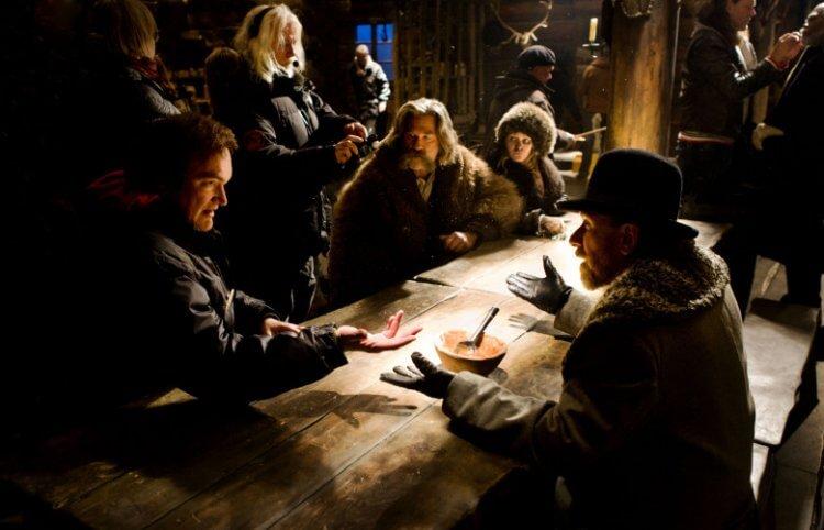 《八惡人》(The Hateful Eight) 拍攝幕後。