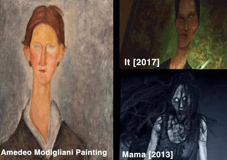 導演安迪馬希提 (Andy Muschietti) 兒時害怕的畫像成了《母侵》(Mama) 以及《牠》(It) 中詭異畫像的靈感來源。