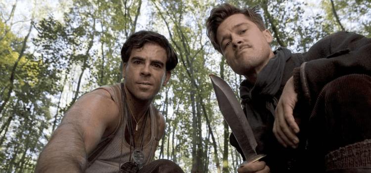 許多暴力血腥的場景是昆汀電影的著名特色,圖為《惡棍特工》劇照。