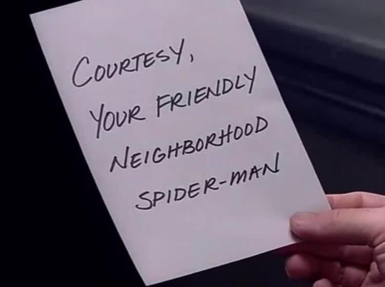 蜘蛛人是大家的好鄰居。