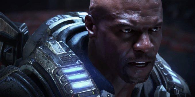 演員史蒂芬福特自己動手 P 圖,讓泰瑞克魯斯版的《戰爭機器》火車頭柯爾短暫成真。