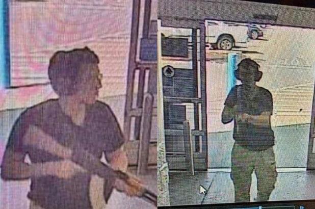 《獵殺》預告才上線,美國各地槍殺案便頻傳,圖為沃爾瑪商場槍擊案的兇手被拍下的身影。