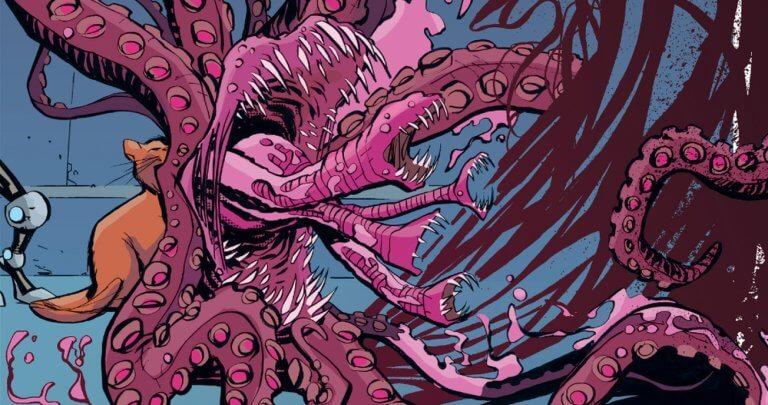 在原作漫畫中的貓咪「阿丘」(Chewie) 其實是一隻來自外星種族佛萊肯 (Flerken) 的生物,能夠在身上攜帶小型的口袋宇宙,並且在保護自己時能夠放出大量的觸手與獠牙。