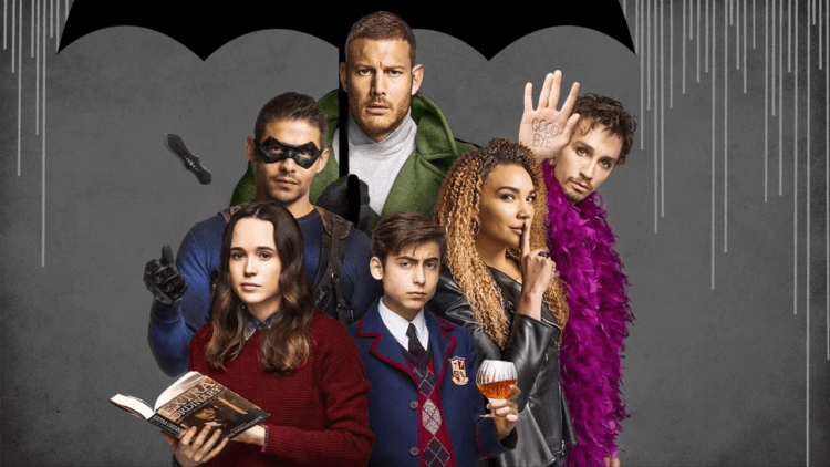 Netflix 原創影集《雨傘學院》。