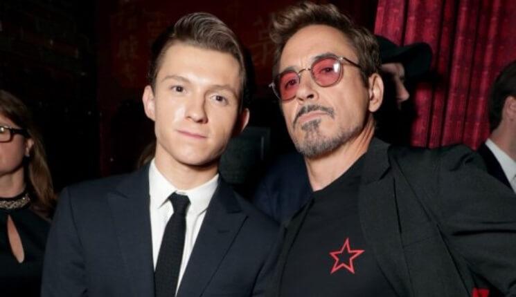 小勞勃道尼 (Robert Downey Jr.) 和湯姆霍蘭德 (Tom Holland)