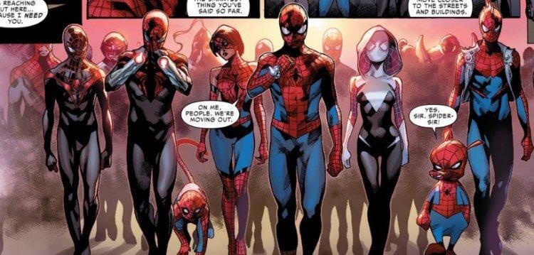蜘蛛人宇宙中千千百百個蜘蛛人。