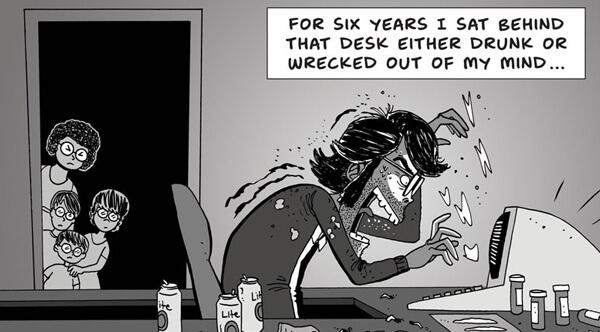 根據史蒂芬金的半自傳著作《史蒂芬金談寫作》而繪製的漫畫。