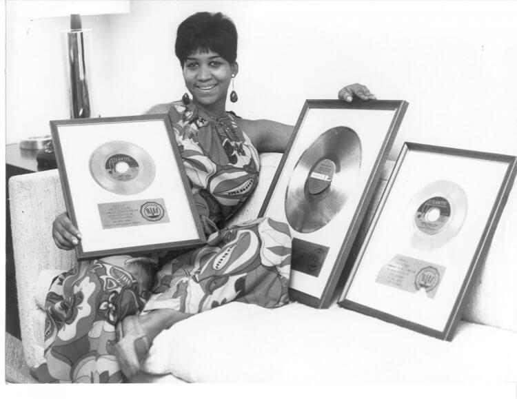 生涯共獲 18 個葛萊美獎的艾瑞莎法蘭克林。